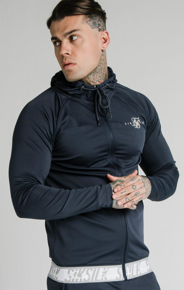 SIKSILK SCOPE TAPE ZIP THROUGH HOODIE