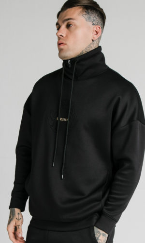 SIKSILK ELEMENT QUARTER ZIP HOODIE