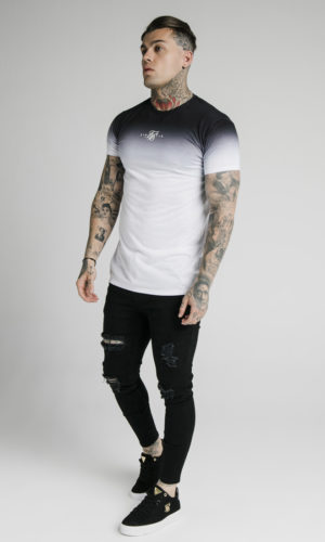 SIKSILK S/S HIGH FADE BOX TEE