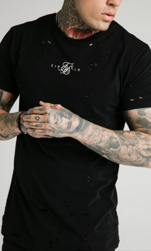 SIKSILK S/S DISTRESSED BOX TEE