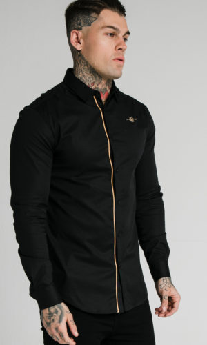 SIKSILK L/S GOLD PIPING SHIRT