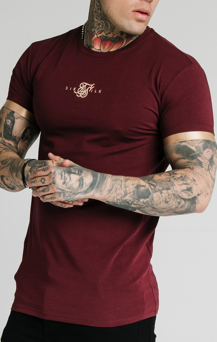 SIKSILK S/S INSET CUFF GYM TEE