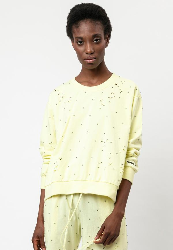BEACH GEM SWEAT WITH HOLES TENDER YELLOW