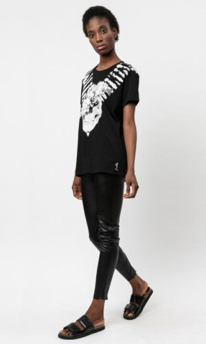 BLOOMS T-SHIRT WASHED BLACK