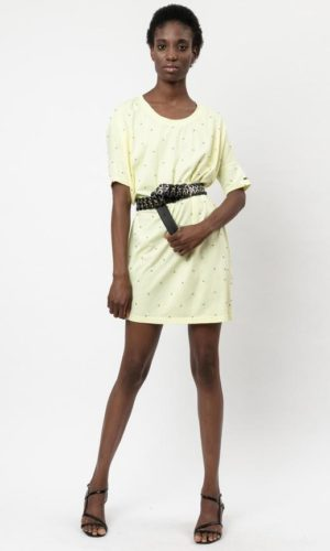 BEACH TEE DRESS WITHOUT HOLES TENDER YELLOW