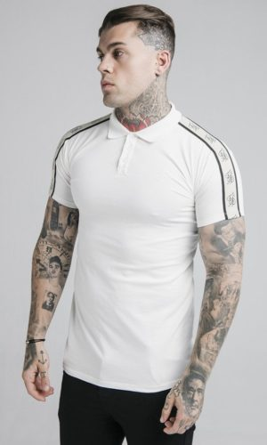 SikSilk S/S Premium Tape Polo - Off White